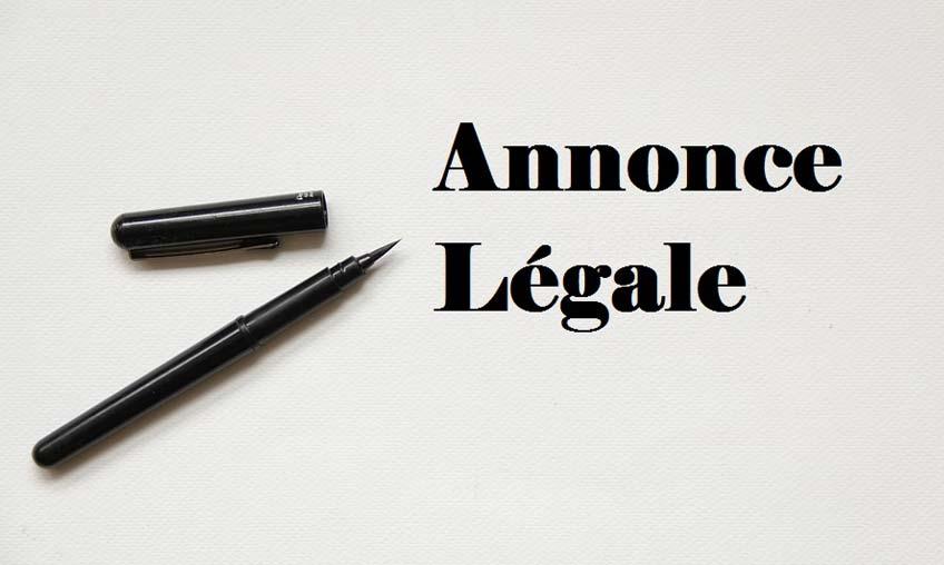 annonce legale
